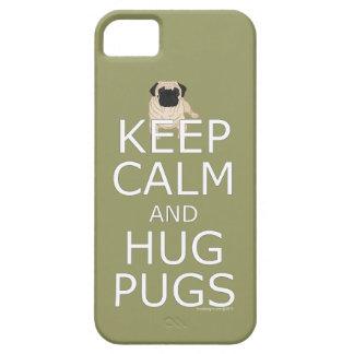Keep Calm Hug Pugs iPhone 5 Covers
