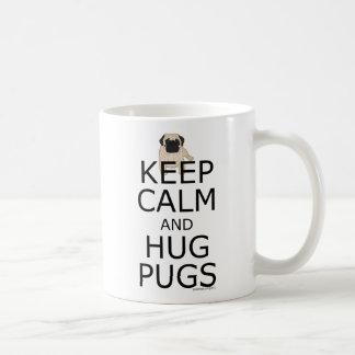 Keep Calm Hug Pugs Trendy Dog Themed Coffee Mug