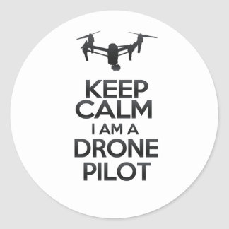 Keep Calm I a.m. Drone Pilot Classic Round Sticker