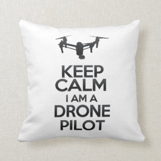 Keep Calm I a.m. Drone Pilot Cushion