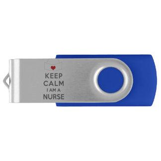 Keep Calm I am a Nurse USB Flash Drive