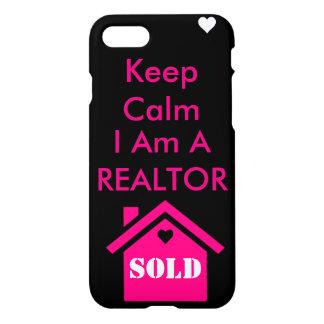 Keep calm I am a Realtor iPhone 7 Case