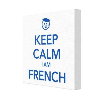 KEEP CALM I AM FRENCH CANVAS PRINT