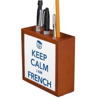 KEEP CALM I AM FRENCH DESK ORGANISER
