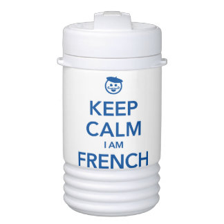KEEP CALM I AM FRENCH DRINKS COOLER
