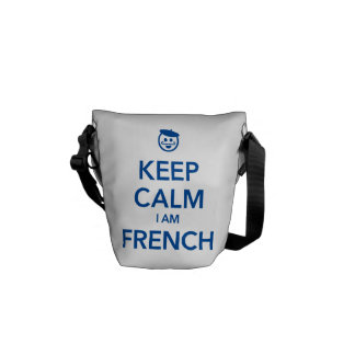 KEEP CALM I AM FRENCH MESSENGER BAGS