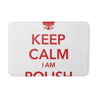 KEEP CALM I AM POLISH BATH MAT