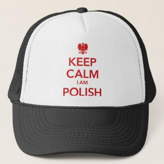KEEP CALM I AM POLISH TRUCKER HAT