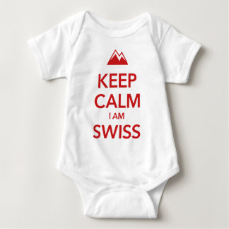 KEEP CALM I AM SWISS BABY BODYSUIT