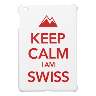 KEEP CALM I AM SWISS iPad MINI CASES