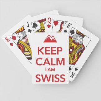 KEEP CALM I AM SWISS PLAYING CARDS