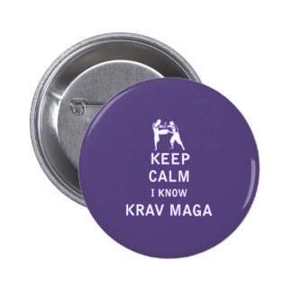Keep Calm I Know Krav Maga Buttons
