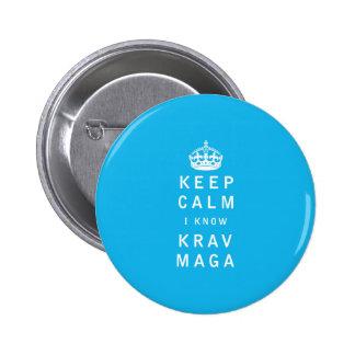 Keep Calm I Know Krav Maga Button