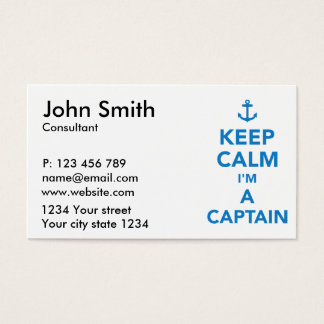 Keep calm I'm a captain Business Card