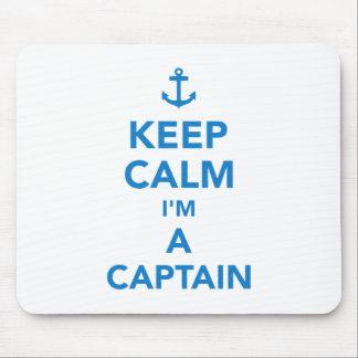 Keep calm I'm a captain Mouse Pad