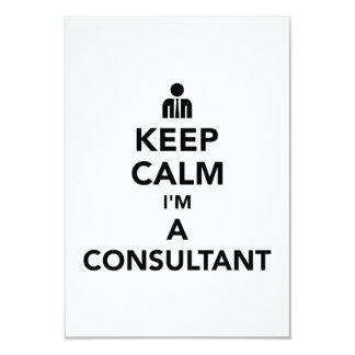 Keep calm I'm a consultant Card