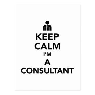 Keep calm I'm a consultant Postcard