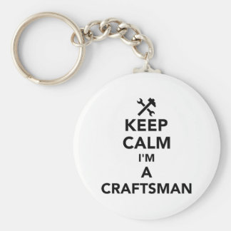 Keep calm I'm a craftsman Key Ring