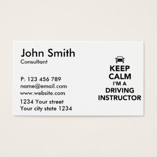 Keep calm I'm a driving instructor Business Card