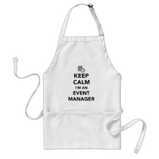 Keep calm I'm a event manager Standard Apron
