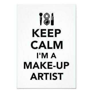 Keep calm I'm a make-up artist Card