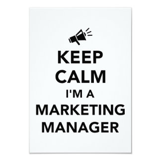 Keep calm I'm a marketing manager 9 Cm X 13 Cm Invitation Card