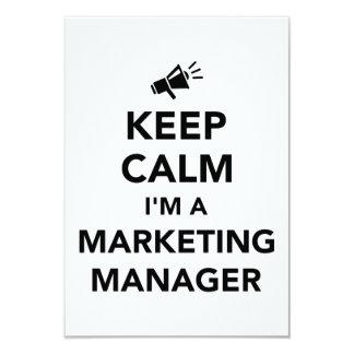 Keep calm I'm a marketing manager Card