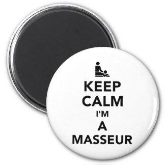 Keep calm I'm a masseur 6 Cm Round Magnet