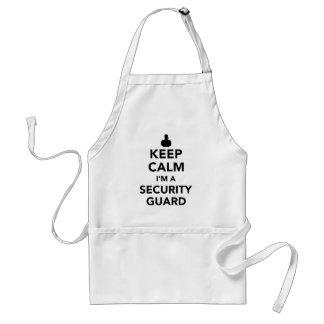 Keep calm I'm a security guard Standard Apron
