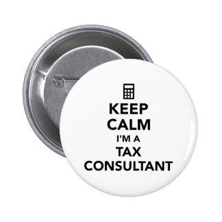 Keep calm I'm a tax consultant 6 Cm Round Badge