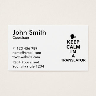 Keep calm I'm a translator Business Card
