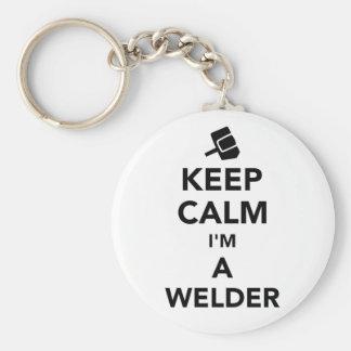 Keep calm I'm a welder Key Ring