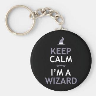 Keep Calm I m A Wizard Key Chains