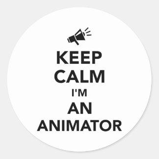 Keep calm I'm an animator Classic Round Sticker