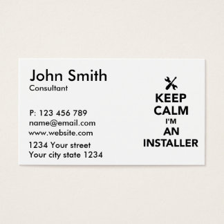 Keep calm I'm an installer Business Card