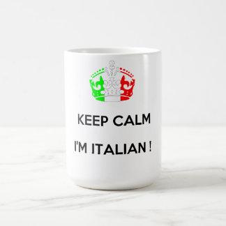 KEEP CALM I M ITALIAN COFFEE MUGS