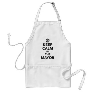 Keep calm I'm the mayor Standard Apron