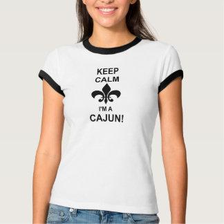 Keep Calm, I'm a Cajun Louisiana Ringer Tee