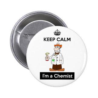 Keep Calm I'm a Chemist Round Badge