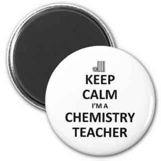 Keep calm I'm a Chemistry Teacher 6 Cm Round Magnet