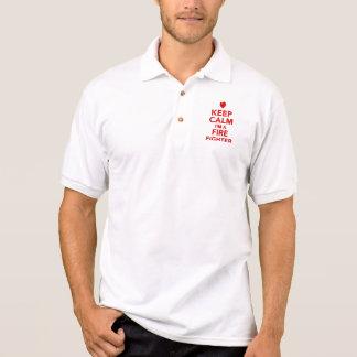 Keep calm I'm a firefighter Polo T-shirt