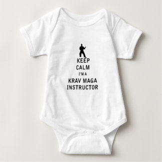 Keep Calm I'm a Krav Maga Instructor Baby Bodysuit