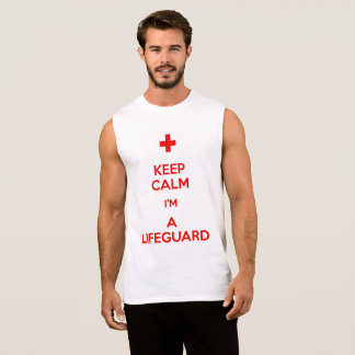 Keep Calm im a Life Guard Sleeveless Shirt