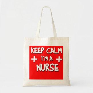 Keep Calm I'm a NURSE! Tote Bag