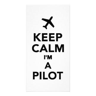 Keep calm I'm a Pilot Photo Greeting Card