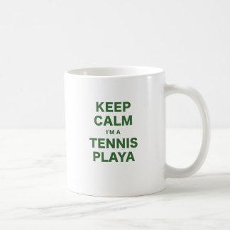 Keep Calm Im a Tennis Playa Coffee Mugs