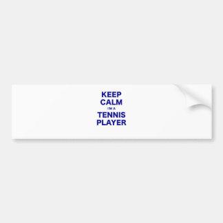 Keep Calm Im a Tennis Player Car Bumper Sticker