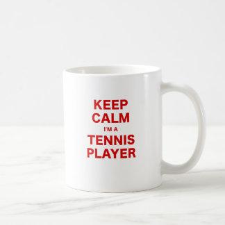 Keep Calm Im a Tennis Player Coffee Mugs