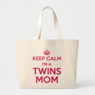 Keep Calm I'm a Twins Mom - Large Tote