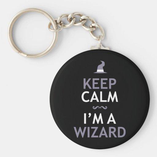 Keep Calm I'm A Wizard Key Chains